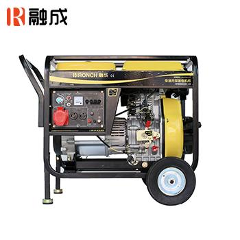 开架式柴油发电机 HP7500CXE-3 单相1.7KW/三相5.0KW 直流12V  (电启)