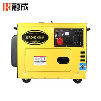 静音式柴油发电机 HP7500LN-3D 单相5.0KW/三相5.0KW 直流12V (电启)