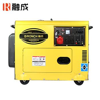 静音式柴油发电机 HP8500LN 单相6.0KW 直流12V (电启)