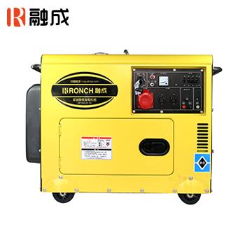 静音式柴油发电机 HP8500LN-3 单相2.0KW/三相6.0KW 直流12V (电启)