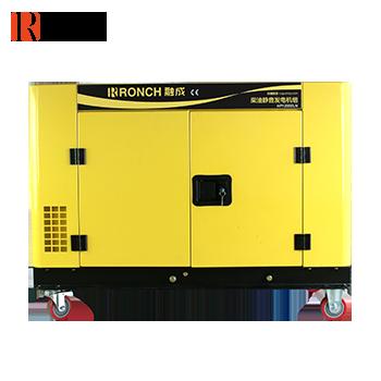 静音式柴油发电机 HP12000LN 单相9KW (电启)