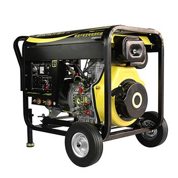 开架式柴油电焊发电机 HP8500WE 单相6KW (电启)200A