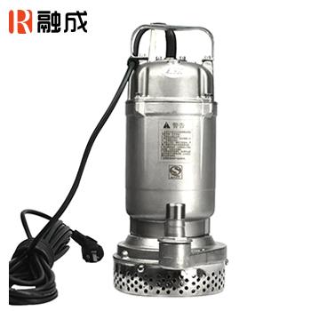 水泵/潜水排污泵/全不锈钢污水污物潜水电泵<丝口>(全精铸) WQD7-7-0.55S 0.55KW 新界老百姓