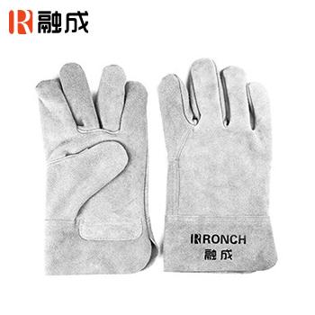 手套/电焊手套 本色 14寸 牛二层皮