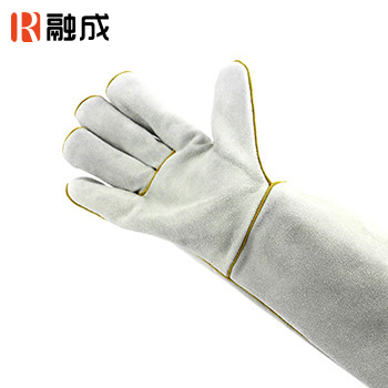 手套/电焊手套 本色 16寸 牛二层皮