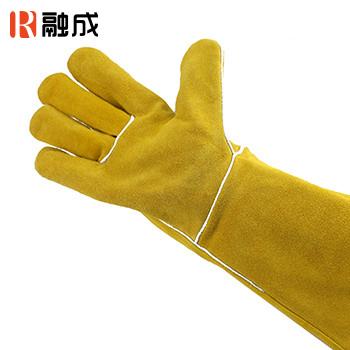 手套/电焊手套 金黄色 14寸 牛二层皮