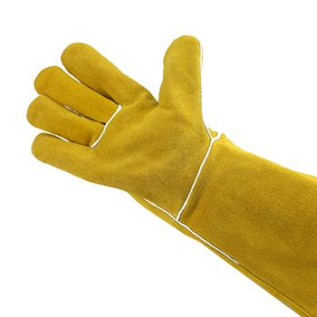 手套/电焊手套 金黄色 16寸 牛二层皮