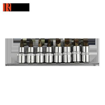 8件12.5mm系列压配套筒组套 一字/十字/米字