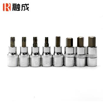 8件12.5mm系列压配套筒组套 六角/花形