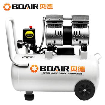 无油静音空压机/气泵BD-550x1-30L 550W*1 (经济款加电磁阀)  贝德