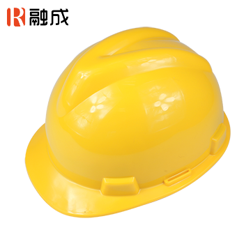 V型加厚直边安全帽 黄色 RC-23