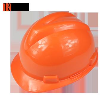 V型加厚直边安全帽 橙色 RC-23