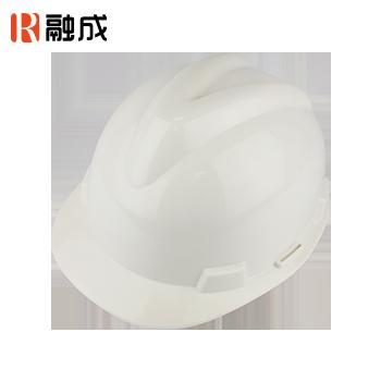 V型加厚直边安全帽 白色 RC-23