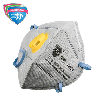 1801V活性炭防尘折叠口罩  三邦