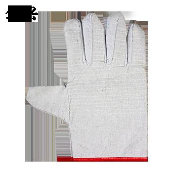 帆布手套/黑丙24线红边