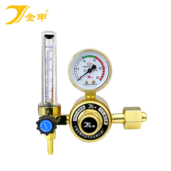 二氧化碳电加热减压器/气表/流量计/调压器/36V/加热型  金申