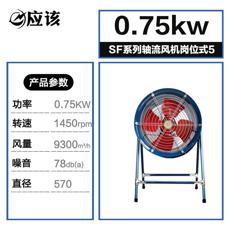 SF系列轴流风机/5#/岗位式/0.75kw/单相/应该