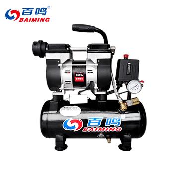 无油静音空压机/9L/600W/有电磁阀  百鸣