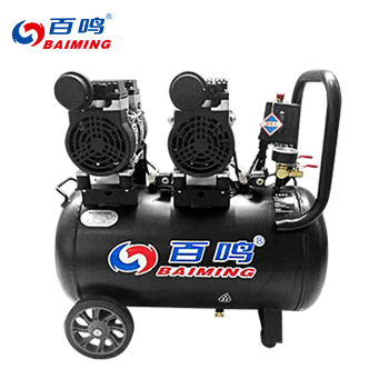 无油静音空压机/50L/600W*2/有电磁阀  百鸣