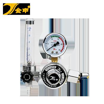 二氧化碳电加热减压器/气表/流量计/调压器/36VCO2加热型/银色  金申