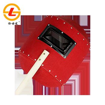 电焊面罩/SF-116 红/手持式/不含镜片  伦士发