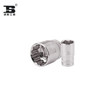 BS363630B-12.5mm系列镜面短套筒(滚花)-30mm 十二角