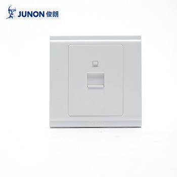 插座/HT01CM 单联八芯电脑信息插座(保护门)/86型暗装  俊朗