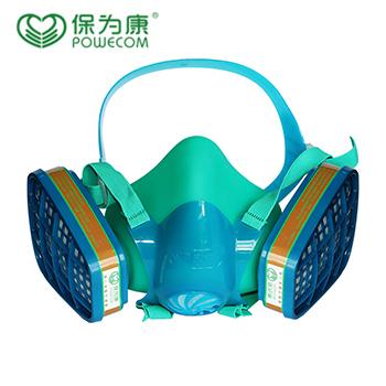 面具/3900 硅胶舒适型双罐防毒面具  保为康