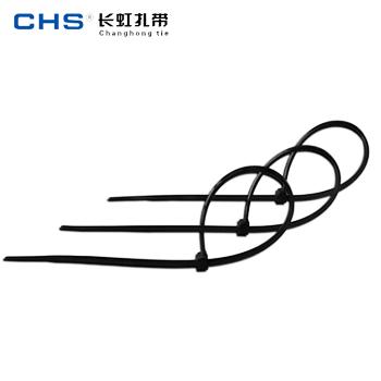 塑料扎带/ZD-SLT-4*300 黑色 200根/包  长虹扎带