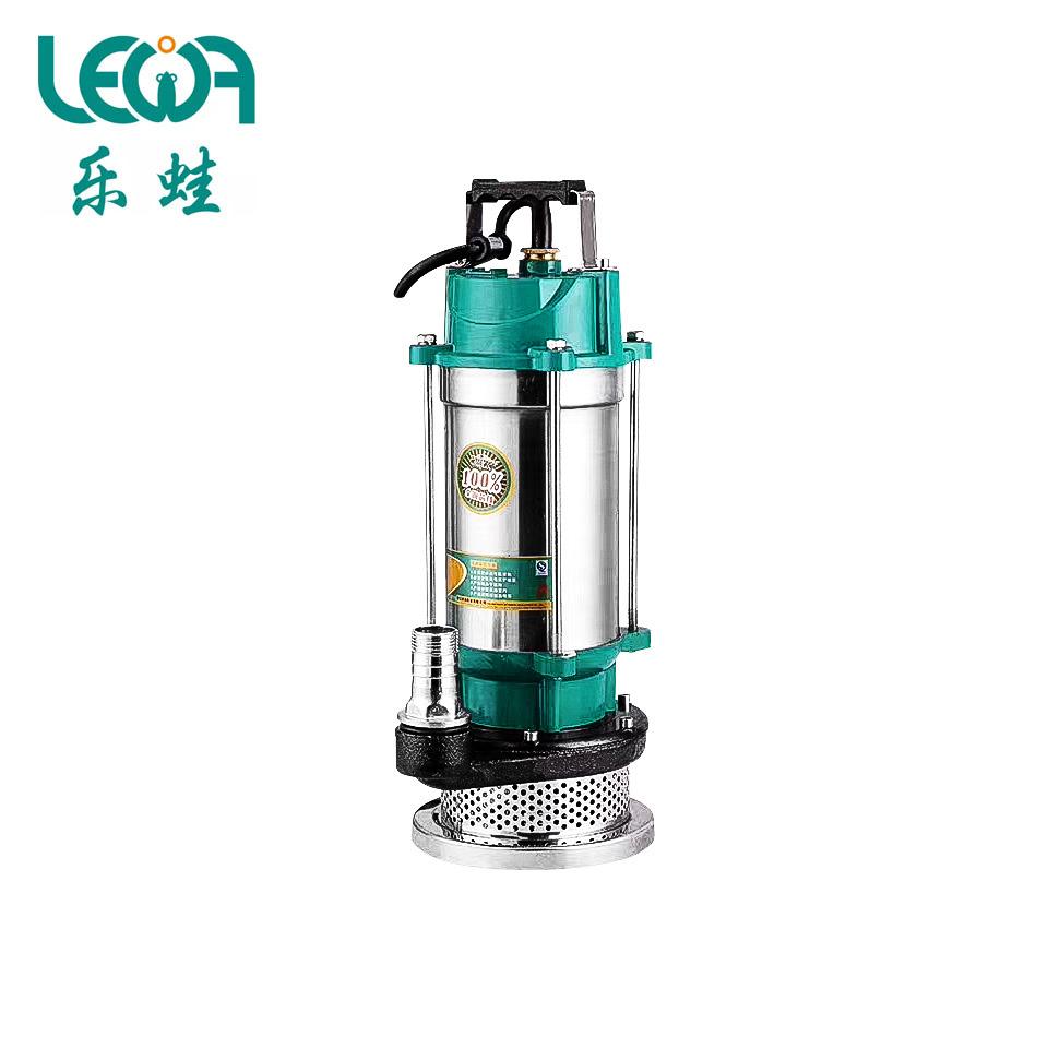 不锈钢筒潜水泵/QDX10-16-0.75/220V/0.75KW/2寸  乐蛙