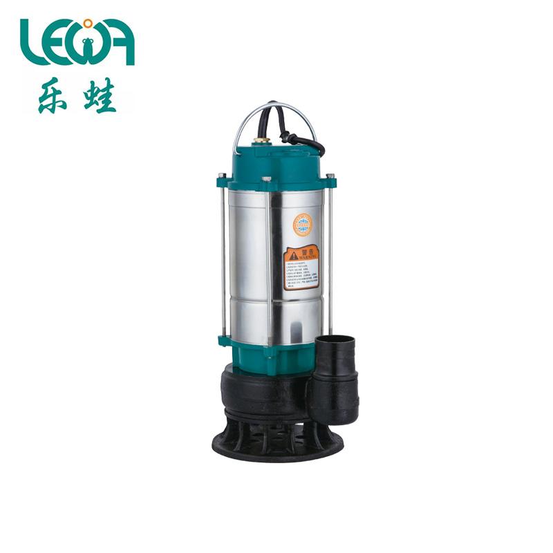 不锈钢筒污水泵/WQDX8-12-1.1/220V/1.1KW/2寸  乐蛙