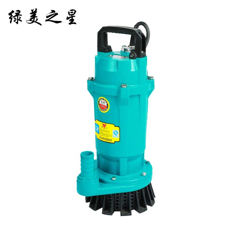 2.5小型潜水电泵/QDX15-10-1.1/铁壳版 绿美之星