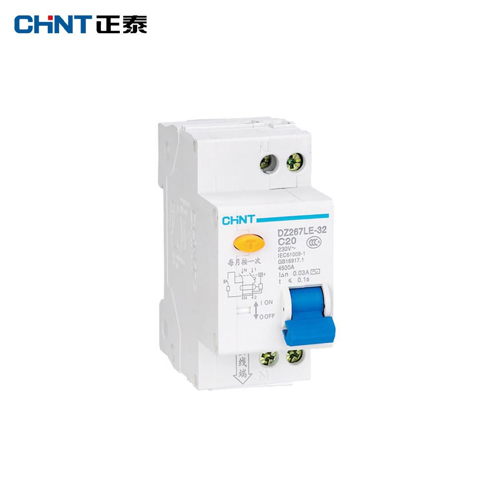 剩余电流动作断路器/DZ267LE-32 1P+N C25 30mA/正泰