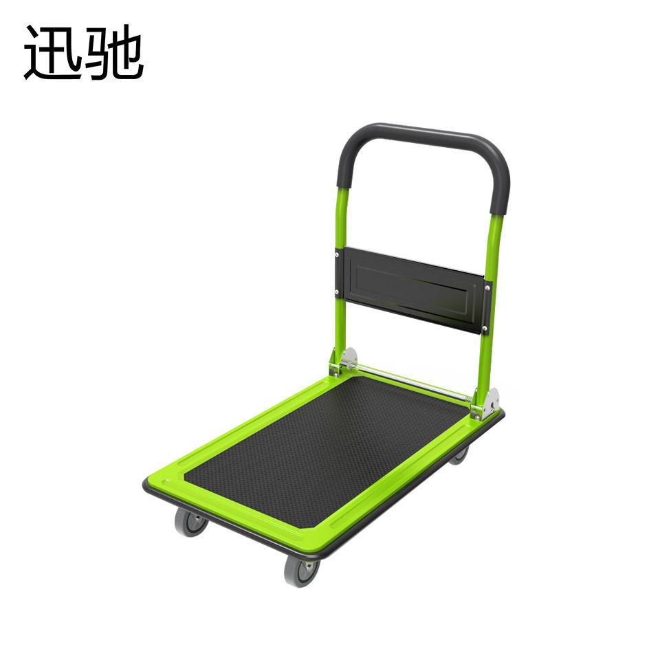 90*60cm轻型钢板车时尚型(荧光绿车身带海绵把手)/迅驰