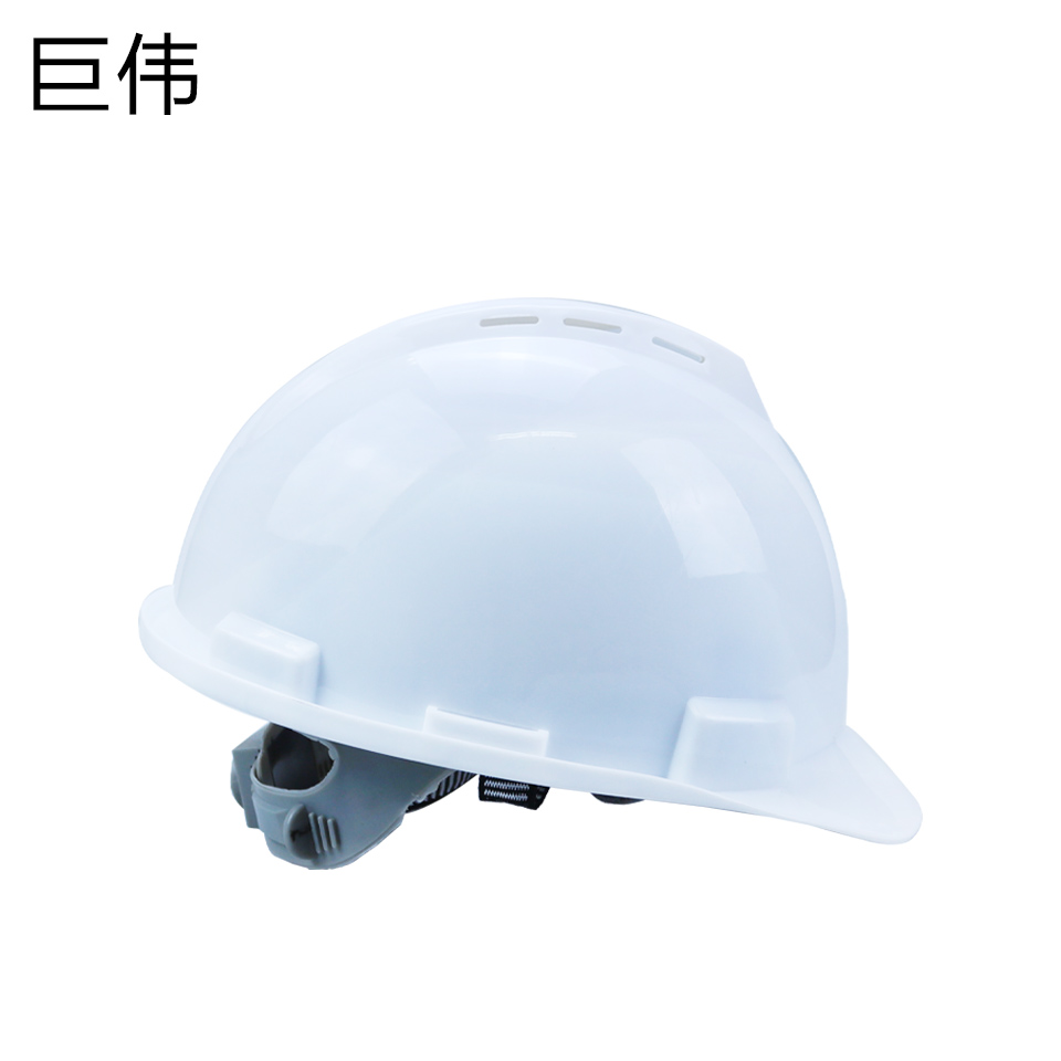 安全帽/ABS V型 一指键 带透气孔 白
