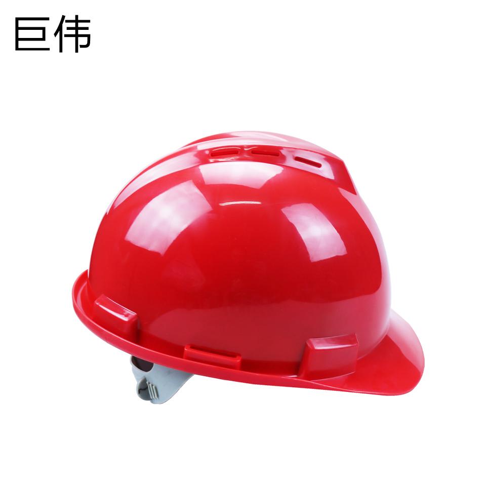 安全帽/ABS V型 一指键 带透气孔 红