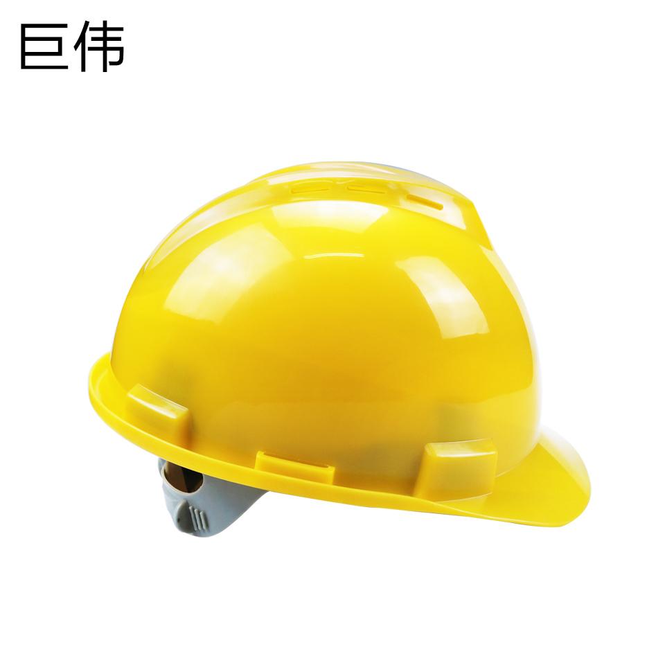 安全帽/ABS V型 一指键 带透气孔 黄