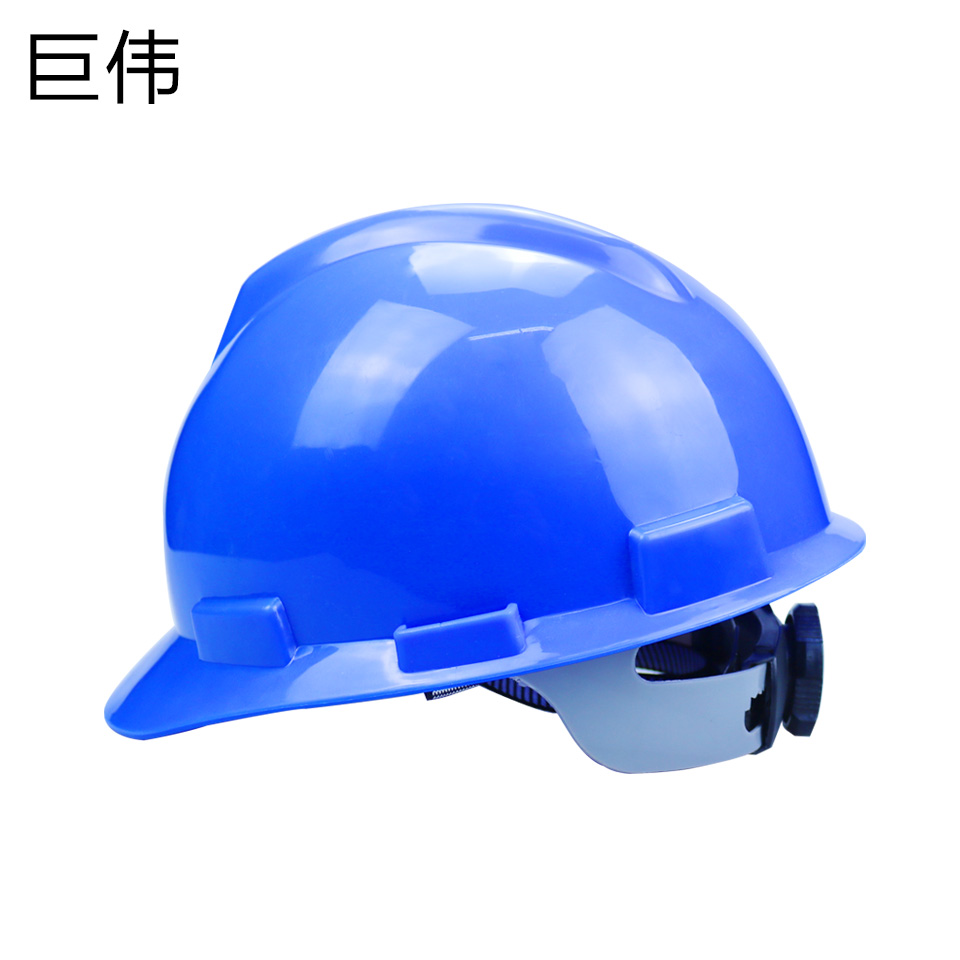 安全帽/ABS  V型  旋转按钮 无透气孔 蓝色