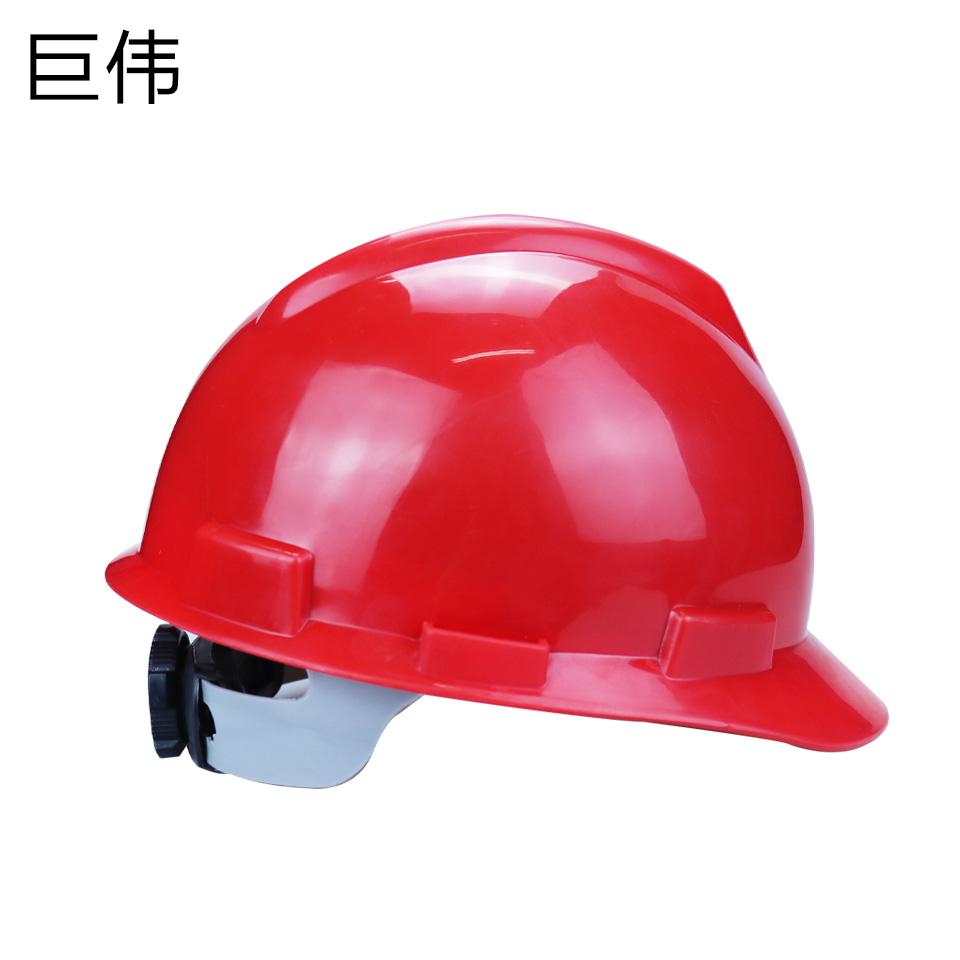 安全帽/ABS  V型  旋转按钮 无透气孔 红色