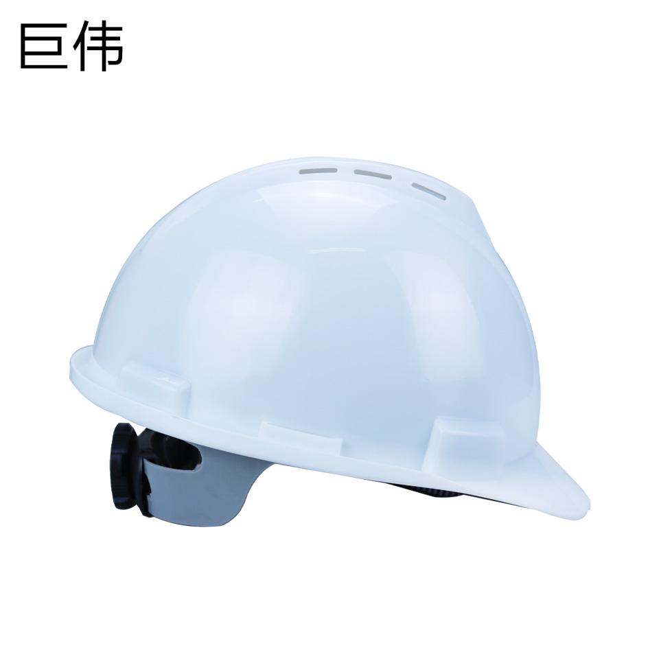 安全帽/ABS  V型  旋转按钮 有透气孔 白色