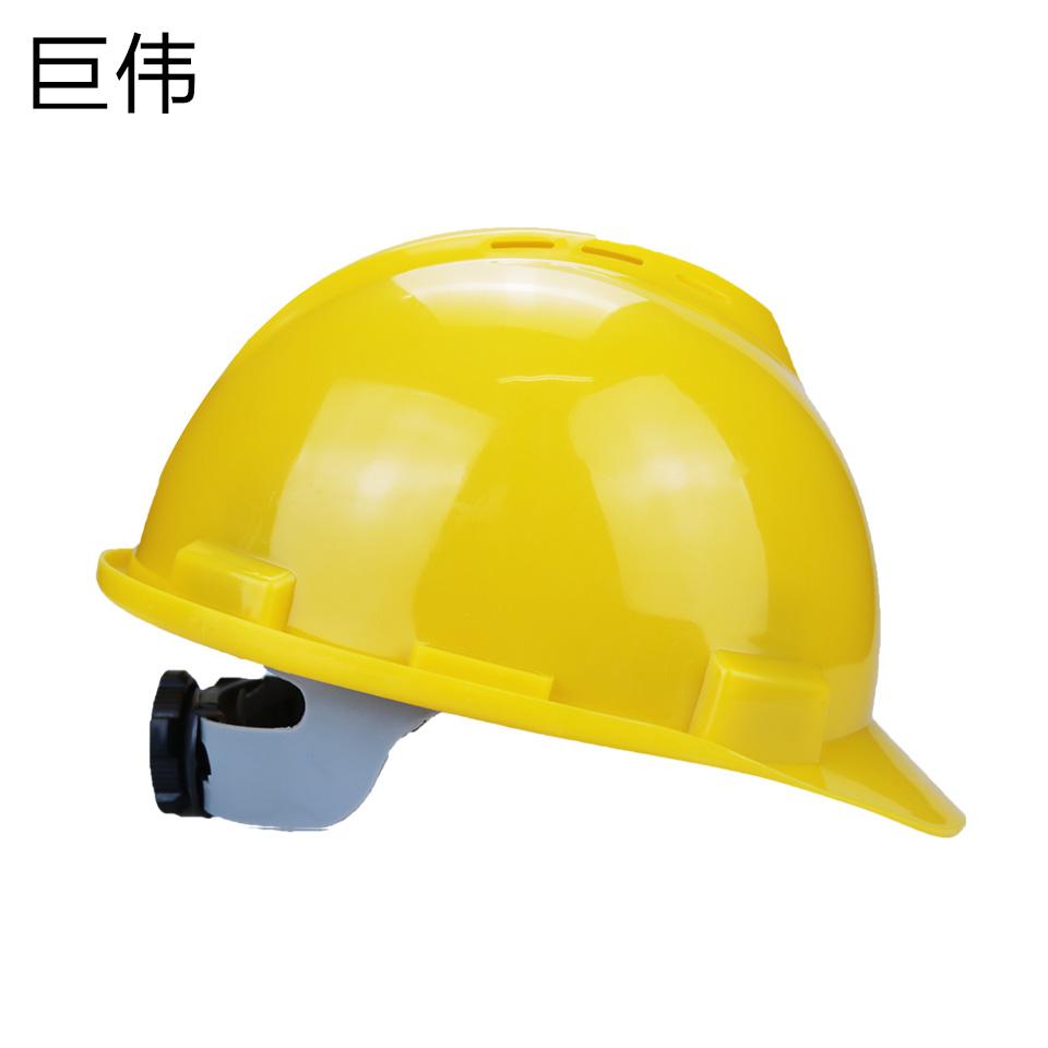 安全帽/ABS  V型  旋转按钮 有透气孔 黄色