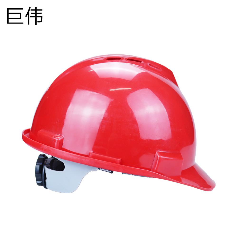 安全帽/ABS  V型  旋转按钮 有透气孔 红色