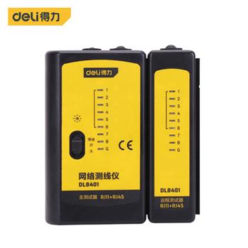 网络电缆测试仪/DL8401网络测线仪RJ11+RJ45(新VI)  得力