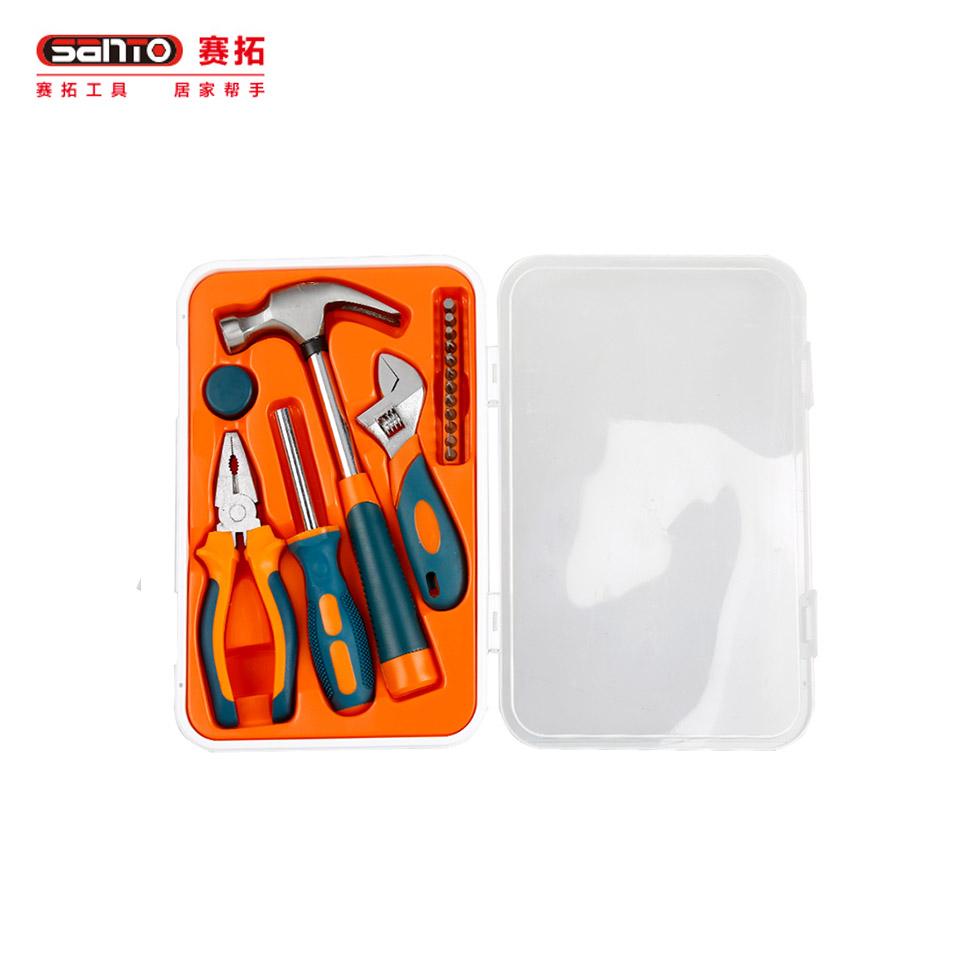 家用工具套装18件套/家用工具套装 五金工具箱工具组套18件套0303赛拓(SANTO)