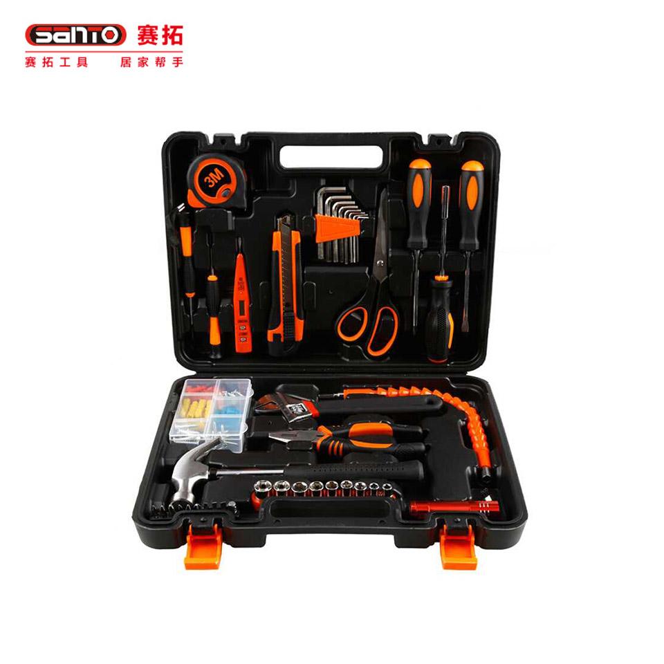 家用工具套装42件套/家用工具套装 维修工具箱工具组套42件套0307赛拓(SANTO)
