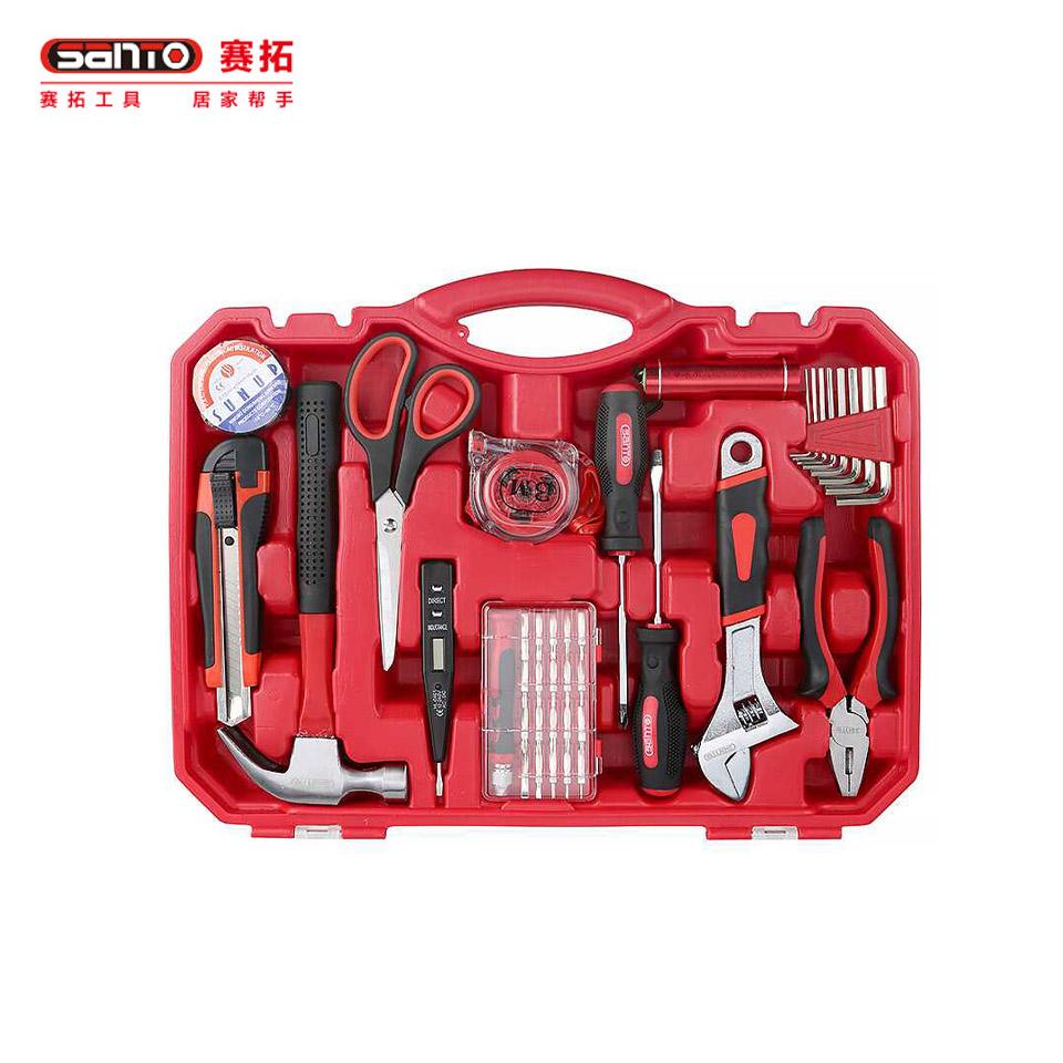 家用工具套装41件套/家用工具套装 透明工具箱工具组套41件套0308赛拓(SANTO)