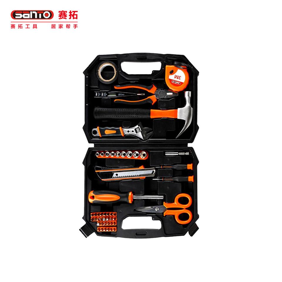 家用工具套装49件套/家用工具套装 维修工具箱组套49件套0380赛拓(SANTO)