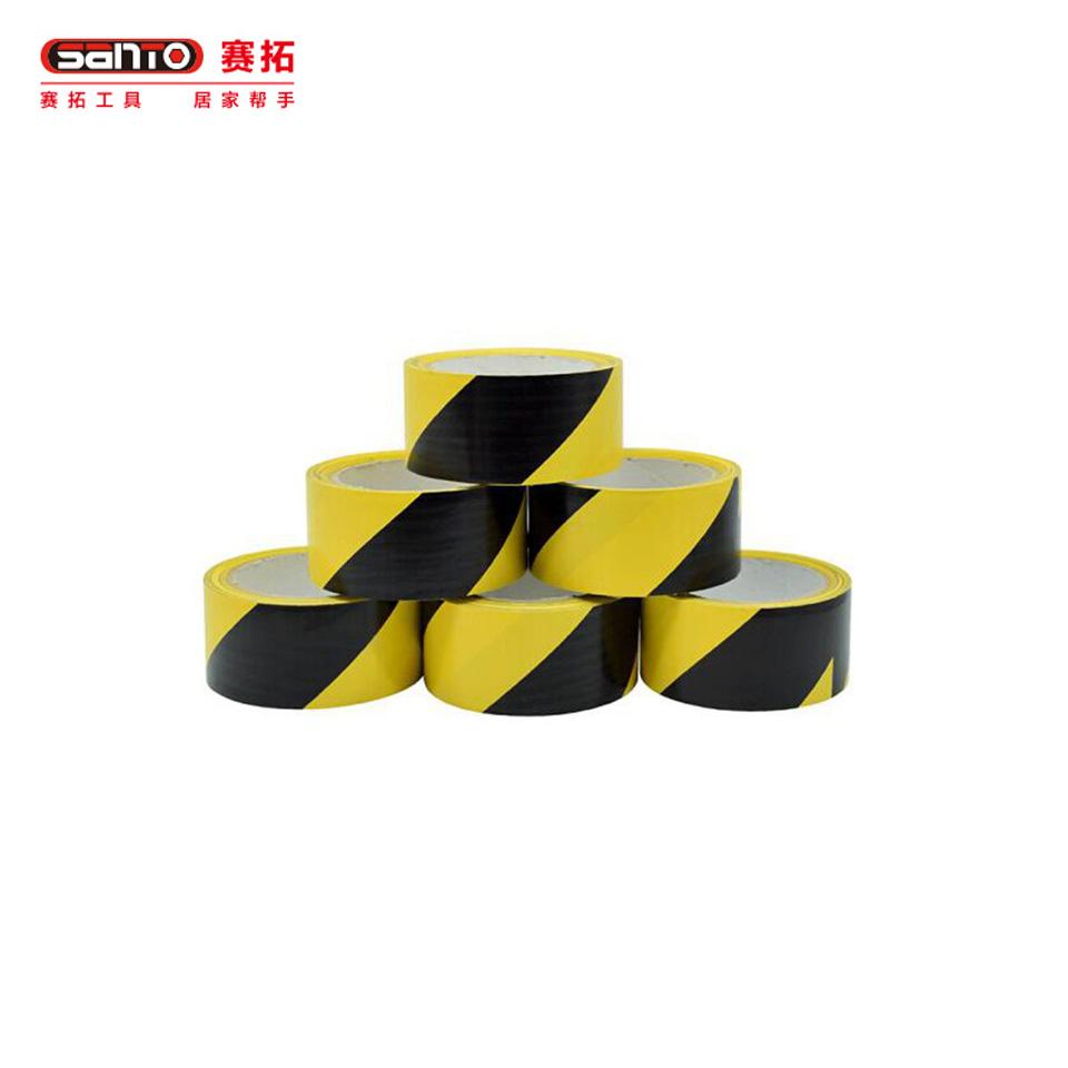 斑马警示胶带/斑马警示胶带 黑黄4.8cm*18Y-6卷装 20172017赛拓(SANTO)