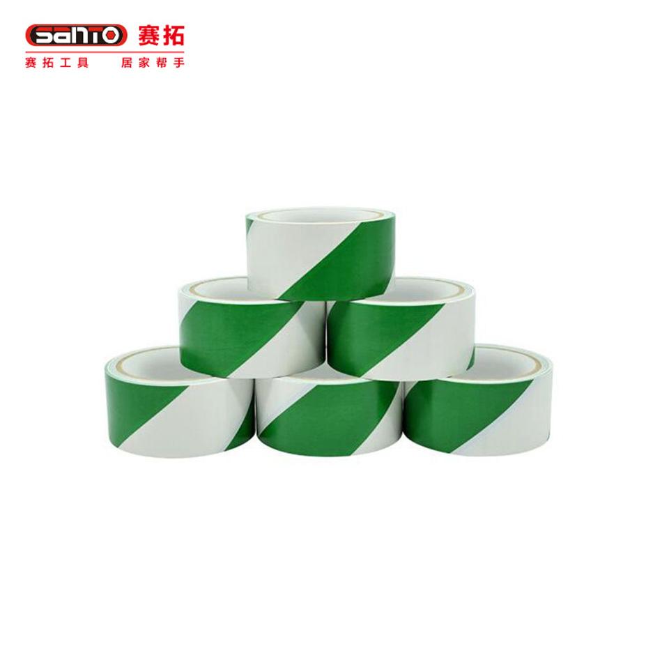斑马警示胶带/斑马警示胶带 绿白4.8cm*18Y-6卷装 20192019赛拓(SANTO)