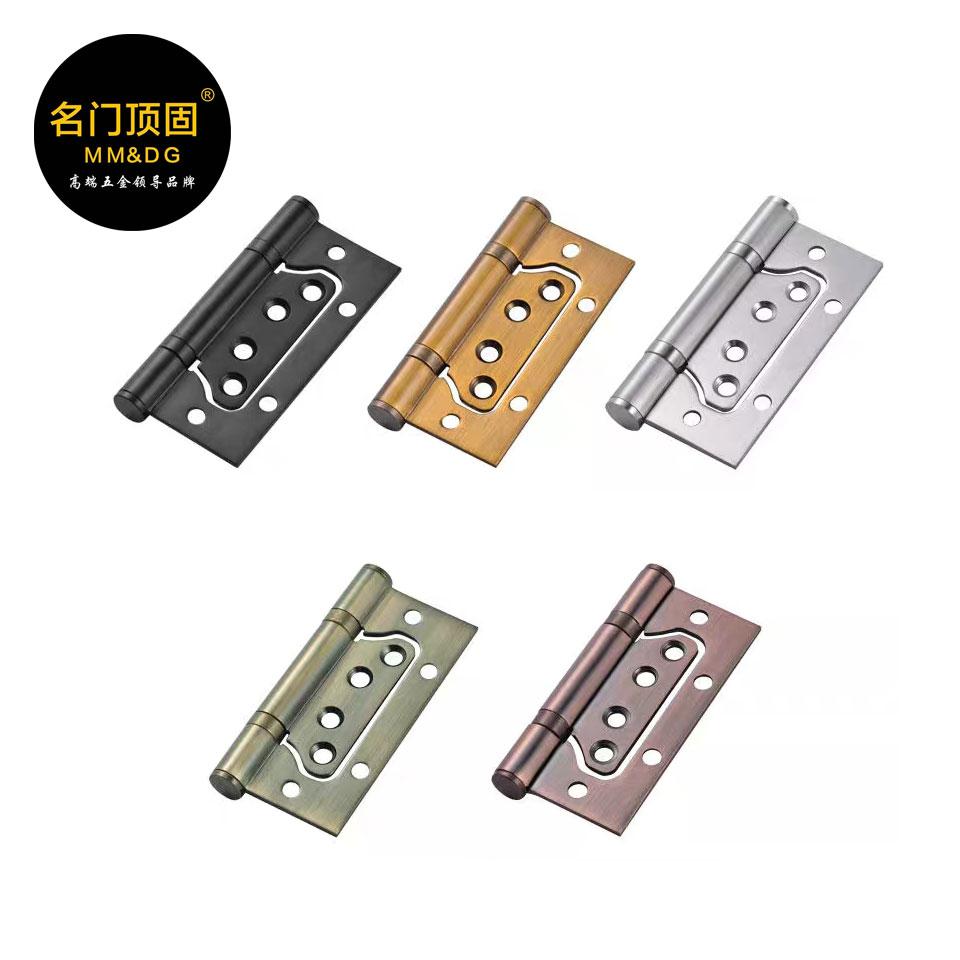 304不锈钢材质/4cm*3.0厚钢拉丝/国标 /子母合页/一对/名门顶固